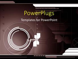 PowerPlugs: PowerPoint template with a number of circles with a fan and technological background