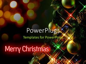 PowerPlugs: PowerPoint template with a number of circles with lights for Christmas