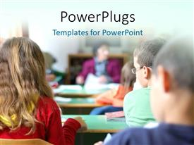 PowerPlugs: PowerPoint template with a number of classfellows in the class