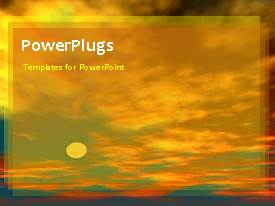 PowerPlugs: PowerPoint template with a number of clouds in the background