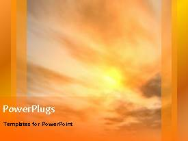 PowerPlugs: PowerPoint template with a number of clouds in the background with a bullet point