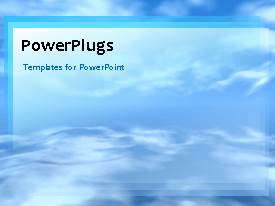PowerPlugs: PowerPoint template with a number of clouds in the background and a bullet point in front
