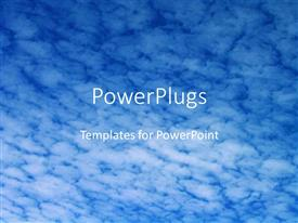 PowerPlugs: PowerPoint template with a number of clouds in the background with the place for text