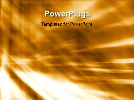 PowerPlugs: PowerPoint template with a number of clouds in the background with a sentence