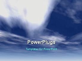 PowerPlugs: PowerPoint template with a number of clouds with sky in the background