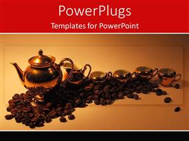 PowerPlugs: PowerPoint template with a number of coffee beans with a number of cups