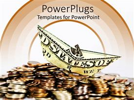 PowerPlugs: PowerPoint template with a number of coins along with a dollar note