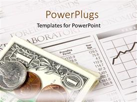PowerPlugs: PowerPoint template with a number of coins and dollar notes