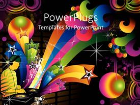 PowerPlugs: PowerPoint template with a number of color celebration material