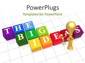 PowerPlugs: PowerPoint template with a number of colored boxes with alphabets
