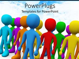 PowerPlugs: PowerPoint template with a number of colored figures standing together