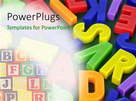 PowerPlugs: PowerPoint template with a number of colorful alphabets with place for text