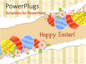 PowerPlugs: PowerPoint template with a number of colorful balloons and the message of happy Easter