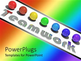 PowerPlugs: PowerPoint template with a number of colorful balls with colorful background