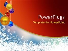 PowerPlugs: PowerPoint template with a number of colorful balls with reddish background