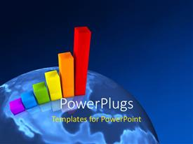 PowerPlugs: PowerPoint template with a number of colorful blocks with globe in the background