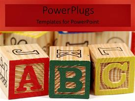 PowerPlugs: PowerPoint template with a number of colorful boxes with their shadow in background