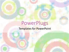 PowerPlugs: PowerPoint template with a number of colorful circles with white background