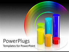 PowerPlugs: PowerPoint template with a number of colorful cylindrical shapes