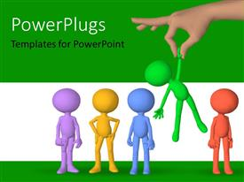 PowerPlugs: PowerPoint template with a number of colorful figures with greenish background