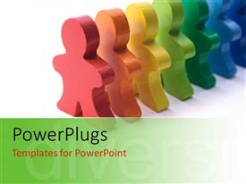 PowerPlugs: PowerPoint template with a number of colorful figures with white background