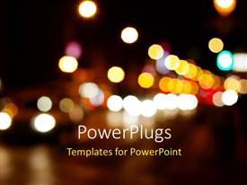 PowerPlugs: PowerPoint template with a number of colorful lights with dark background