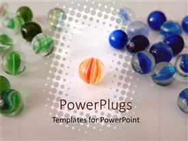 PowerPlugs: PowerPoint template with a number of colorful marbles in circular shapes