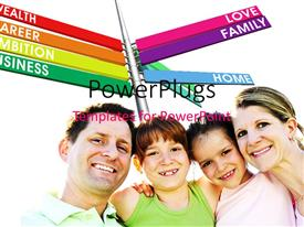 PowerPlugs: PowerPoint template with a number of colorful signs with a family