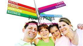 PowerPoint template displaying a number of colorful signs with a family