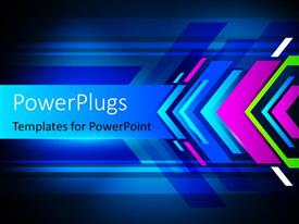PowerPlugs: PowerPoint template with a number of colors in the background