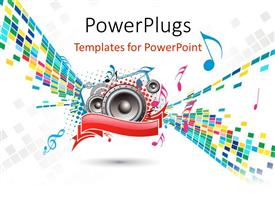 PowerPlugs: PowerPoint template with a number of colors in the background with speakers and place for text
