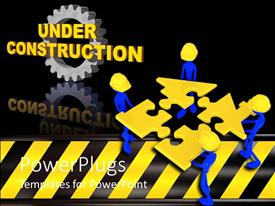 PowerPlugs: PowerPoint template with a number of construction workers holding the puzzle pieces