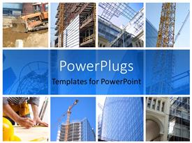 PowerPlugs: PowerPoint template with a number of construction works going on