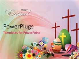 PowerPlugs: PowerPoint template with a number of crosses and Easter day celebration stuff