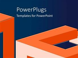 PowerPlugs: PowerPoint template with a number of cubes with bluish background