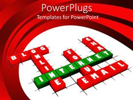 PowerPoint template displaying a number of cubes creating various words