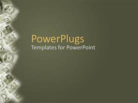 PowerPlugs: PowerPoint template with a number of currency notes on a side