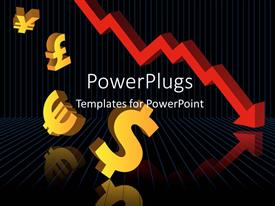 PowerPlugs: PowerPoint template with a number of currency signs falling like the economy
