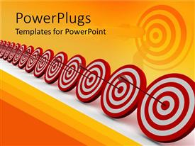 PowerPlugs: PowerPoint template with a number of darts hitting on target