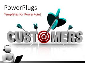 PowerPlugs: PowerPoint template with a number of darts off target
