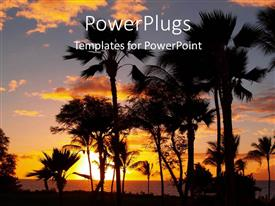 PowerPlugs: PowerPoint template with a number of date trees during sunset