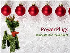 PowerPlugs: PowerPoint template with a number of decoration balls for Christmas