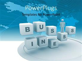 PowerPlugs: PowerPoint template with a number of dices with map in the background