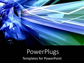 PowerPoint template displaying a number of digital lines merged together