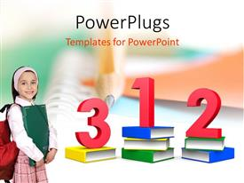 PowerPlugs: PowerPoint template with a number of digits and a collection of books