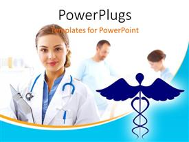 PowerPlugs: PowerPoint template with a number of doctors with a medical sign in front