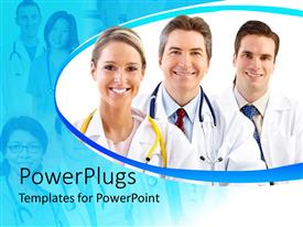 PowerPlugs: PowerPoint template with a number of doctors with more in the background