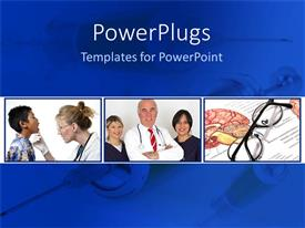 PowerPlugs: PowerPoint template with a number of doctors with the patients