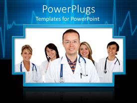 PowerPoint template displaying a number of doctors with white background