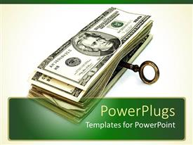 PowerPlugs: PowerPoint template with a number of dollar notes with a key